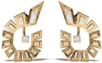 Stephen Webster 18kt yellow gold Dynamite diamond hoop earrings
