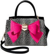 Betsey Johnson Bow You See It Dotty Removable Bow Satchel