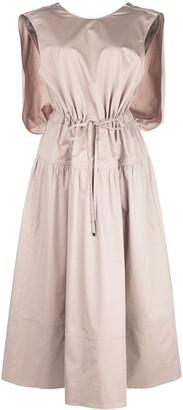 Tibi Poplin Cape Dress