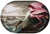 Magpie Spoonbill Oval Platter, Pink/White