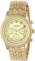 Akribos XXIV Women's AK722YG Swiss Quartz Movement Watch with Yellow Gold Dial and Bracelet