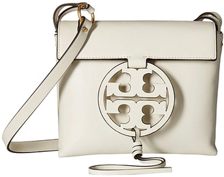 Tory Burch Women's Handbags Birch - Birch Miller Leather Crossbody