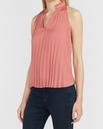 Express Pleated V-Neck Trapeze Tank