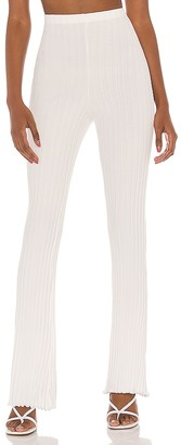 Privacy Please Ribbed Flare Pant