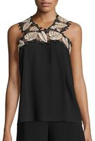 Yigal Azrouel Sleeveless Leaf Top