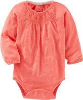 Osh Kosh Oshkosh Long-Sleeve Striped Knit Bodysuit - Baby Girls 3m-24m