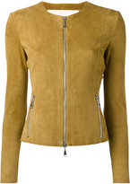 Drome collarless jacket - women - Leather - XS