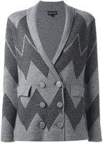 Emporio Armani double breasted blazer - women - Polyamide/Spandex/Elastane/Wool - 46