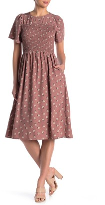 See The Shades Short Sleeve Floral Smocked Dress