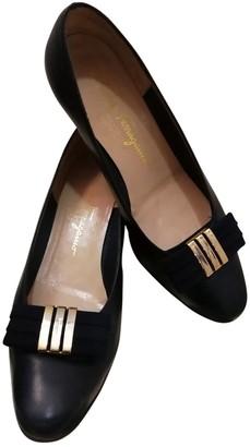 Salvatore Ferragamo Blue Leather Heels