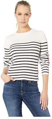 Bishop + Young Marina Crop Sweater (Black Stripe) Women's Sweater