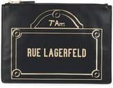 Karl Lagerfeld Rue Lagerfeld clutch