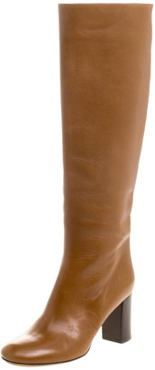 Chloé Brown Leather Knee High Boots Size 38