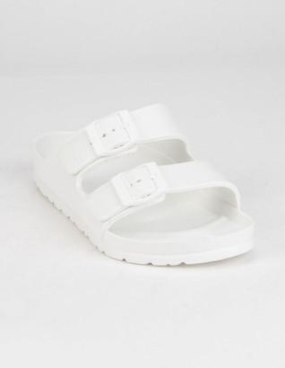Qupid Lennie Womens White Sandals