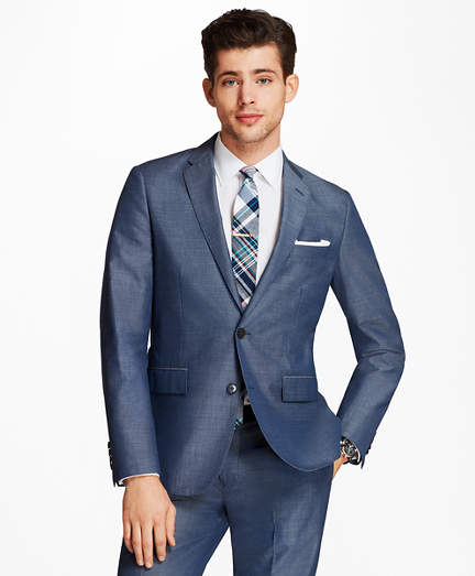 Brooks Brothers Cotton-Mohair Two-Button Suit Jacket