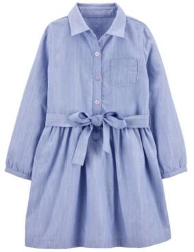 Carter's Toddler Girls Chambray Woven Dress