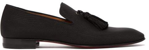 Christian Louboutin Officialito Serge Tassel Loafers - Mens - Black