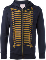 Palm Angels embellished zip hoodie - men - Cotton/Plastic/metal/polyester - XS