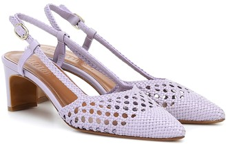 Souliers Martinez Exclusive to Mytheresa Bizkaia woven leather pumps