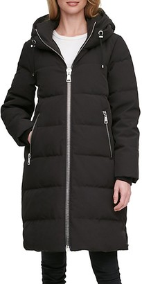 DKNY Down-Filled Long Puffer Coat