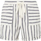 Dorothy Perkins Womens **Tall Blue Striped Linen Shorts- Blue