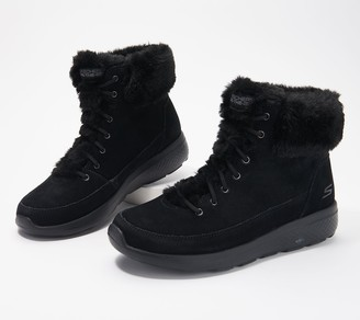 Skechers On-the-Go Water Repellent Suede Boots - Winter Chill