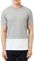 Topman Men's Slim Fit Panel T-Shirt