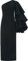 Rosie Assoulin Bidi Bidi Bom Bom Tea Length Dress