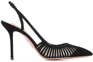 Aquazzura slingback stiletto heel pumps