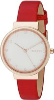 Skagen Women's SKW2552 Ancher Red Leather Watch