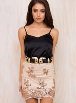 Mystery Unfolding Sequin Mini Skirt