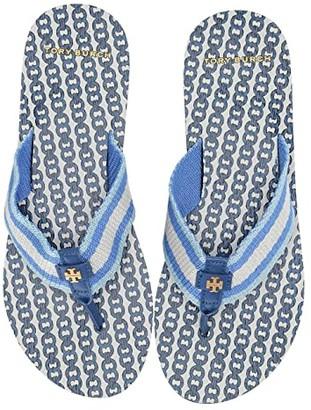 Tory Burch Gemini Link Thin Flip-Flop (Bondi Blue/Bondi Blue) Women's Shoes