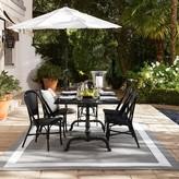 Williams-Sonoma La Coupole Indoor/Outdoor Dining Table, Rectangular Black Granite Top