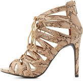 Charlotte Russe Lace-Up Laser Cut Dress Sandals