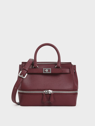 Charles & Keith Two-Way Zip Structured Bag