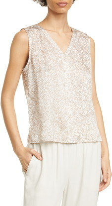Eileen Fisher Silk & Organic Cotton Sleeveless Top