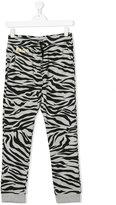 Kenzo teen zebra print track pants