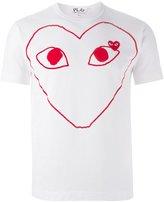 Comme des Garcons 'Play' heart print T-shirt