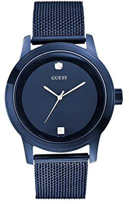 GUESS Ionic Plated Stainless Steel Genuine Diamond Mesh Bracelet Watch. Color: (Model: U0297G2)