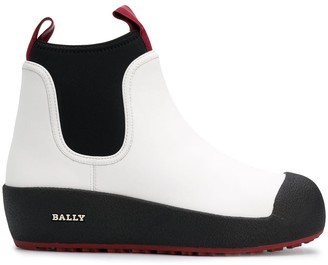 Bally Two Tone Slip-On Boots