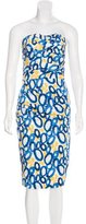 Samantha Sung Printed Sleeveless Dress