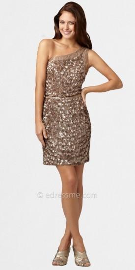 Aidan Mattox One-shoulder Sequin Party Dresses