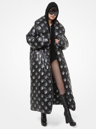 Michael Kors Studio 54 Print Oversized Puffer Coat