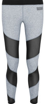 Monreal London Waterfall Mesh-Paneled Stretch-Jersey Leggings