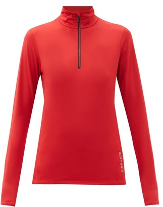 Bogner Fire & Ice Margo Quarter-zip Jersey Base-layer Top - Red