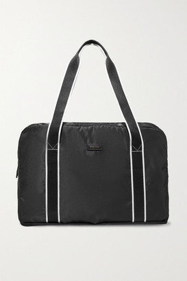Paravel Fold-up Leather And Grosgrain-trimmed Shell Weekend Bag - Black
