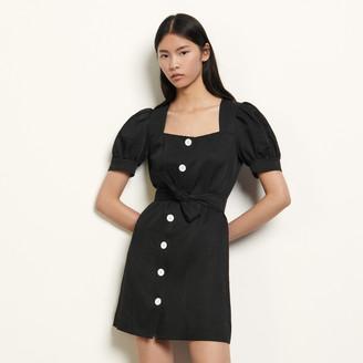 Sandro Short linen blend dress