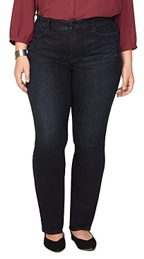 Nydj Plus Marilyn Straight-Leg Jeans in Quentin