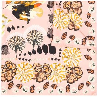 Temperley London Nora floral printed silk scarf