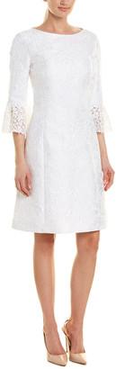 Michael Kors Collection Silk-Blend Shift Dress